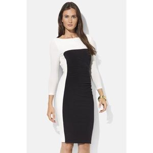 Lauren Ralph Lauren Dresses - Lauren Ralph Lauren Colorblock Jersey sheath dress